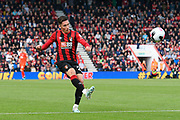 Harry Wilson (22) of AFC Bournemouth crosses the ball during the Premier League match between Bournemouth and Norwich City at the Vitality Stadium, Bournemouth, England on 19 October 2019.