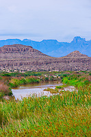 Rio Grande River (Mexico on left side of river), Big Bend National Park, Texas USA.