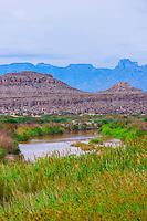 Rio Grande River (Mexico on left side of river), Big Bend National Park, Texas USA.