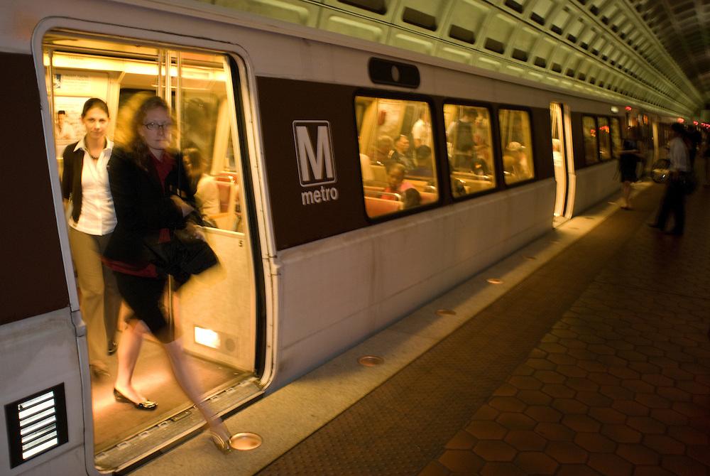 Washington DC Metro system providing effective public transportation.