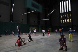© London News Pictures. 14/05/15. London, UK. Tate Modern is temporarily transformed into Musee de la danse, Central London. Photo credit: Laura Lean/LNP/05/15. London, UK.