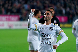 Adam Maher #6 of FC Utrecht celebrate after the semi final KNVB Cup between FC Utrecht and Ajax Amsterdam at Stadion Nieuw Galgenwaard on March 04, 2020 in Amsterdam, Netherlands