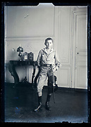 portrait of a boy with violin France ca 1920s
