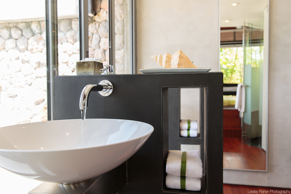 Master bathroom at villa 6, Samsara private estate, Kamala, Phuket, Thailand