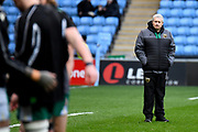 Northampton Saints Director of Rugby Chris Boyd  watches over the players warm up during the Gallagher Premiership Rugby match between Wasps and Northampton Saints at the Ricoh Arena, Coventry, England on 5 January 2020.