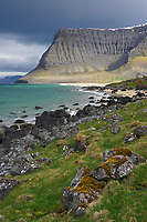 Arnarfjörður seascape, West fiords of Iceland.