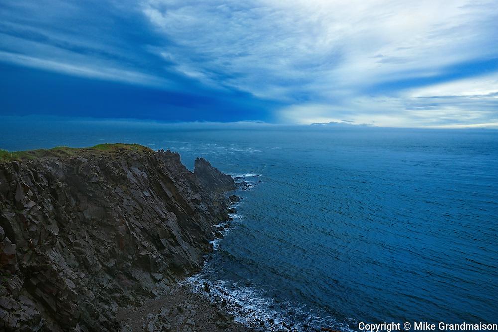 Rocky shoreline off the Bay of Fundy<br /> Cape d'Or<br /> Nova Scotia<br /> Canada