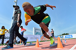 02/08/2017; Thomas, Tevaughn Kevin, T46, JAM, Training at 2017 World Para Athletics Junior Championships, Nottwil, Switzerland
