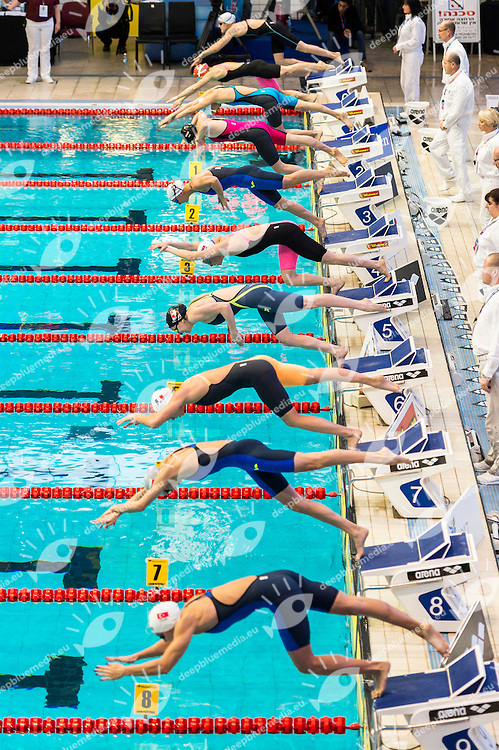 start<br /> 100m Freestyle Women Heats<br /> Netanya, Israel, Wingate Institute<br /> LEN European Short Course Swimming Championships Dec. 2 - 6, 2015 Day02 Dec.03<br /> Nuoto Campionati Europei di nuoto in vasca corta<br /> Photo Giorgio Scala/Deepbluemedia/Insidefoto