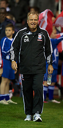 STOKE, ENGLAND - Monday, September 13, 2010: Stoke City's assistant Manager Dave Kemp during the Premiership match against Aston Villa at the Britannia Stadium. (Photo by David Rawcliffe/Propaganda)