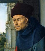 Head Saint Jost'.   Rogier van der Weyden (1399/1400-1464) Early Netherlandish painter.