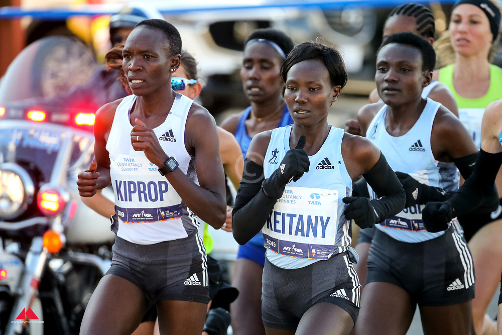 elite women lead, Nancy Kiprop, Mary Keitany, adidas<br /> TCS New York City Marathon 2019