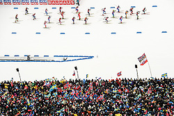 March 16, 2019 - –Stersund, Sweden - 190316 Spectators at the start of of the Women's 4x6 km Relay during the IBU World Championships Biathlon on March 16, 2019 in Östersund..Photo: Petter Arvidson / BILDBYRÃ…N / kod PA / 92268 (Credit Image: © Petter Arvidson/Bildbyran via ZUMA Press)