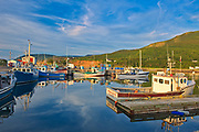 Fishing boats in coastal village. Cape Breton Island. Cabot Trail. <br />