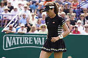 Konta (GBR) Vs Sakkari (GRE) Action at the Nature Valley International 2019 at Devonshire Park, Eastbourne, United Kingdom on 25th June 2019. Picture by Jonathan Dunville