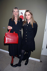 Left to right, JAN DE VILLENEUVE and her daughter DAISY DE VILLENEUVE at The Week of Living Dangerously an exhibition and concert by Richard Ascott and Phil Colbert of fashion label Rodnik held at The Hospital, Endell Street, London on 25th March 2008.<br />