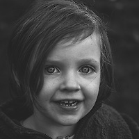 Smiling happy face of young child