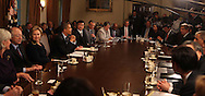 President Barack Obama speaks at a cabinet meeting on November 23rd 2009 in Washington, DC.    photo by Dennis Brack