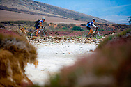 GREYTON, SOUTH AFRICA - Riders make their way through the farmlands around Greyton during stage four of the Absa Cape Epic Mountain Bike Stage Race held in Greyton on the 25 March 2009 in the Western Cape, South Africa..Photo by Karin Schermbrucker /SPORTZPICS