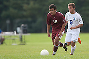 Community College of Morris Forward Juan Londono (18); Gloucester County College Defender Giuseppe Bua (6)..Gloucester County College hosts the Community College of Morris on Monday October 10, 2011.