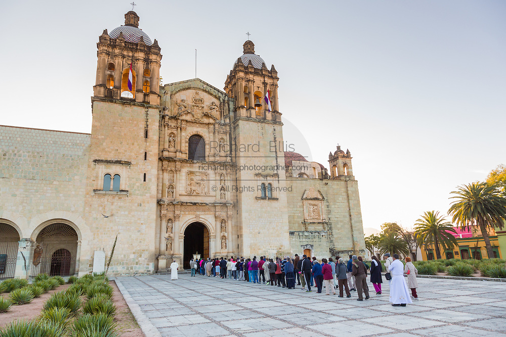 An early morning procession for peace at Santo Domingo church October 27, 2013 in Oaxaca, Mexico.