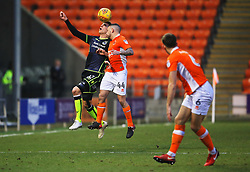 Joe Partington of Bristol Rovers challenges Jay Spearing of Blackpool - Mandatory by-line: Matt McNulty/JMP - 13/01/2018 - FOOTBALL - Bloomfield Road - Blackpool, England - Blackpool v Bristol Rovers - Sky Bet League One