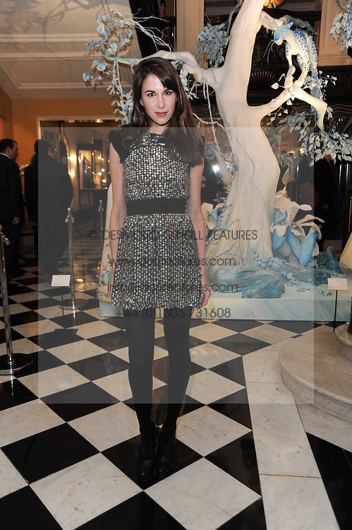 CAROLINE SIEBER at the launch of the Claridge's Christmas Tree designed by John Galliano for Dior held at Claridge's, Brook Street, London on 1st December 2009.