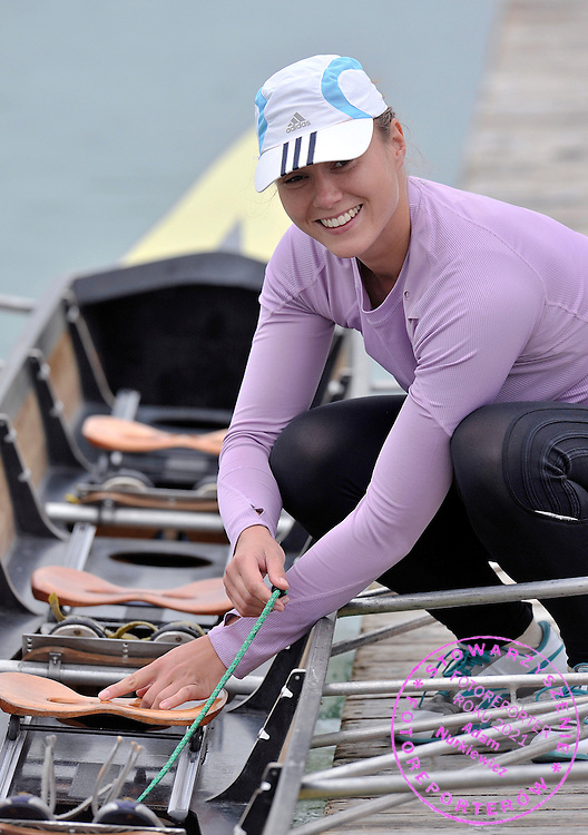 PATRYCJA PYTEL (POLAND) PREPARES HER BOAT TO TREINING SESSION DURING REGATTA ROWING WORLD CUP IN MUNICH, GERMANY...GERMANY , MUNICH , JUNE 17, 2010..( PHOTO BY ADAM NURKIEWICZ / MEDIASPORT )..PICTURE ALSO AVAIBLE IN RAW OR TIFF FORMAT ON SPECIAL REQUEST.