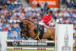 SCHWIZER Pius (SUI), Chaquilot<br /> Aachen - CHIO 2019<br /> Allianz-Preis<br /> Springprüfung mit Siegerrunde <br /> 20. Juli 2019<br /> © www.sportfotos-lafrentz.de/Stefan Lafrentz