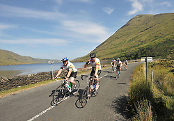 Over 300 cyclists took part in Westportif a leisure Cycle route covering an 80km & 160km via Louisburgh Doolough, Leenaun, Maam Cross, Tourmakeady and back to Westport. Proceeds from the cycle were in aid of Pieta House.<br /> Pic Conor McKeown
