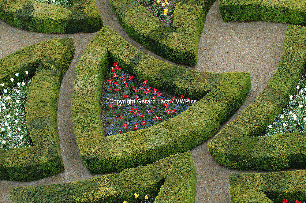 GARDEN OF VILLANDRY CASTLE, LOIRE VALLEY CASTLE, FRANCE