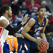 Malcolm Hill #21 of the Illinois Fighting Illini looks for a shot during the NIT First Round game at Agganis Arena on March 19, 2014 in Boston, Massachusetts . (Photo by Elan Kawesch)