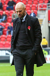 Rotherham United manager Paul Warne after Rotherham United concede their third goal of the day - Mandatory by-line: Ryan Crockett/JMP - 28/10/2017 - FOOTBALL - Aesseal New York Stadium - Rotherham, England - Rotherham United v Gillingham - Sky Bet League One