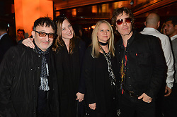 Left to right, ?, ?, LEE STARKEY and JAY MEHLER at a party to celebrate the opening of 100 Wardour Street, Soho, London on 28th January 2016.