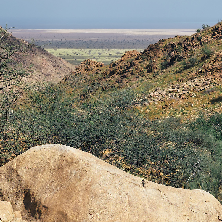 The view from the mountain looking towards the Red Sea.