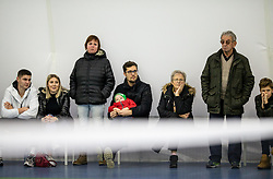Supporters at final match during Slovenian National Tennis Championship 2019, on December 21, 2019 in Medvode, Slovenia. Photo by Vid Ponikvar/ Sportida