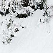 Owen Dudley drops a major inbounds line at Mount Baker Ski Area.