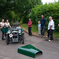 Seren Whyte and Elise Whyte in the Arrive & Drive  Austin Seven Super 750 (A&D)   on the Royal Automobile Club 1000 Mile Trial 2015