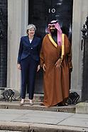 Prime Minister Theresa May and Mohammad bin Salman, the Crown Prince of Saudi Arabia