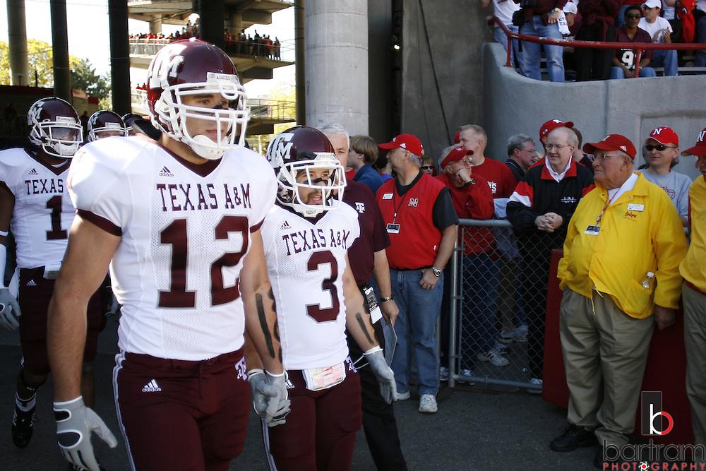 Texas A&M University player Ben Bitner (3) at Memorial Stadium  in Lincoln, Nebraska against the University of Nebraska on Saturday, Oct. 20, 2007