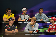 May 25-29, 2016: Monaco Grand Prix. Max Verstappen, Red Bull , Nico Rosberg  (GER), Mercedes ,  FIA Press Conference