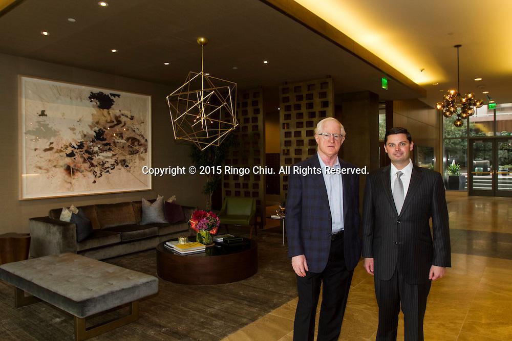 William A. Witte,left, president and CEO, Gino Canori executive VP of Related California.Photo by Ringo Chiu/PHOTOFORMULA.com)