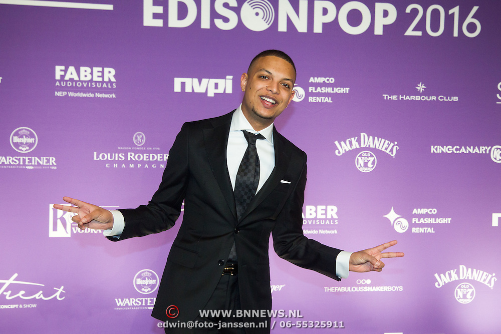 NLD/Amsterdam/20160321 - Edison Pop Awards 2016, Ronnie Flex