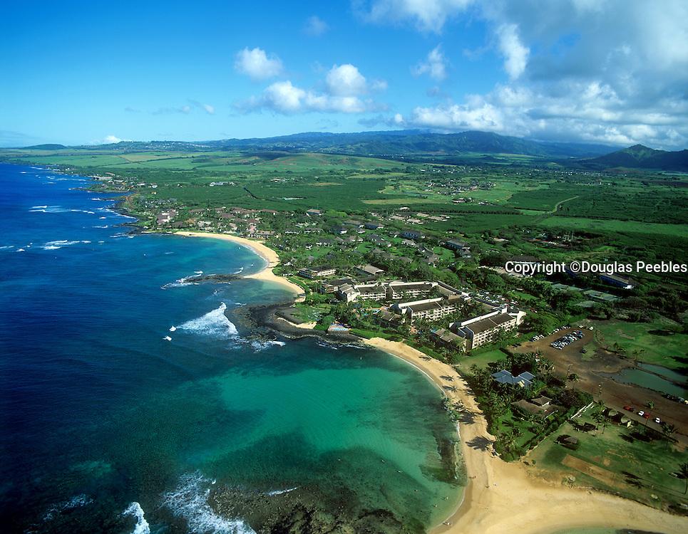 Poipu beach, Kauai, Hawaii, aerial