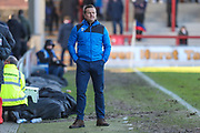 Forest Green Rovers manager, Mark Cooper during the EFL Sky Bet League 2 match between Morecambe and Forest Green Rovers at the Globe Arena, Morecambe, England on 17 February 2018. Picture by Shane Healey.