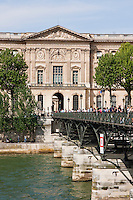 pont des artes and louvre in Paris France in Spring time of May 2008