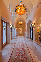 Empty hallway in luxury mansion