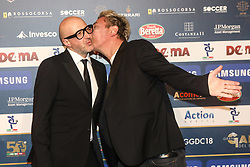 December 3, 2018 - Milan, Italy - Ringo and Saturnino at 'Oscar Del Calcio AIC' Italian Football Awards photocall in Milano, Italy, on December 03 2018  (Credit Image: © Mairo Cinquetti/NurPhoto via ZUMA Press)