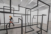 Run 2016 - Antony Gormley, Fit, a new exhibition of work in the South Galleries of White Cube Bermondsey. The piece is divided into 15 discrete chambers to create a series of dramatic physiological encounters in the form of a labyrinth.