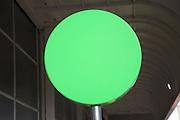 Blank circular green sign